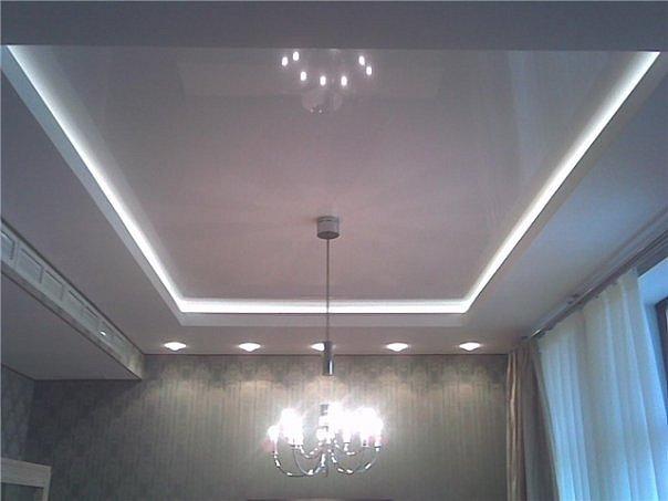 Светодиодная подсветка потолка по бокам