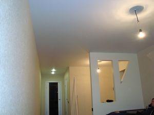 Матовый потолок бесшовный производства Бельгия в студии на ул. 5 Нагорный проезд г. Саратова